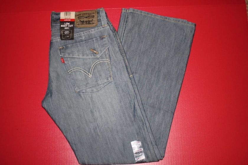 NWT MENS LEVIS 527 0011 BOOT CUT JEANS SAIL
